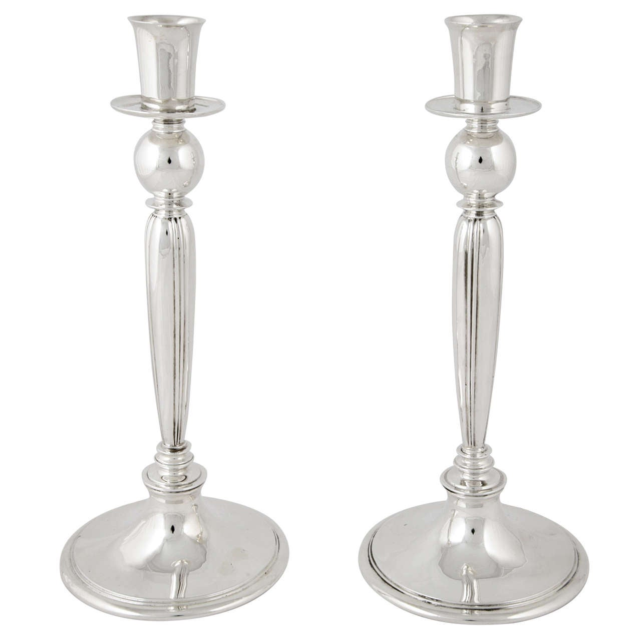Pair of Sterling Silver Candlesticks