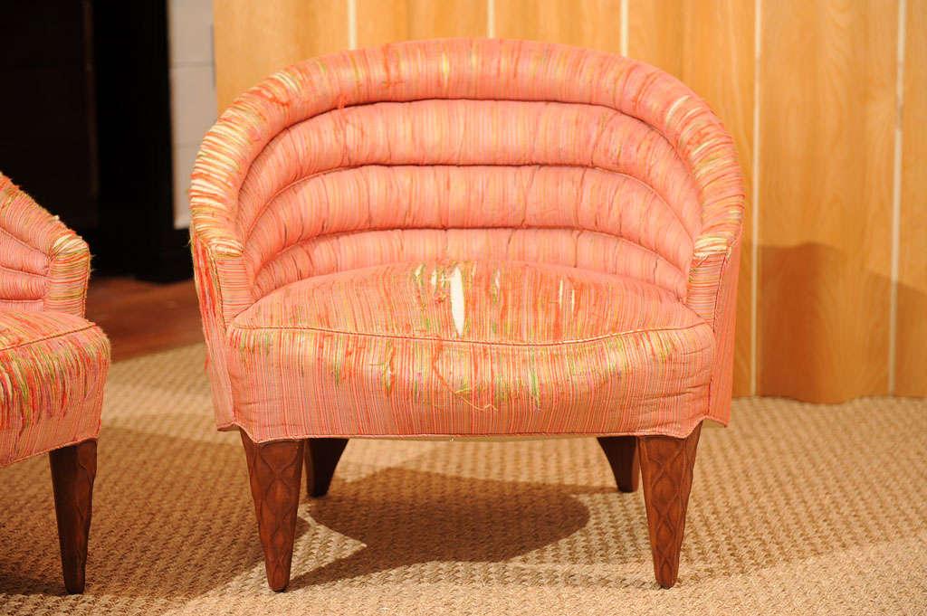 "Dunbar ""Janus"" Line Slipper Chairs 4"