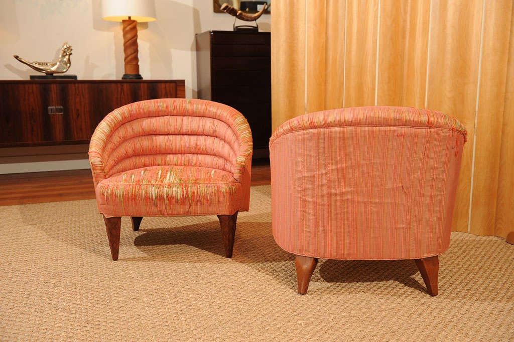 "Dunbar ""Janus"" Line Slipper Chairs 7"
