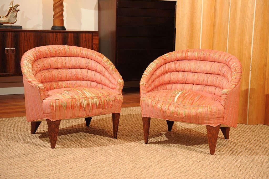 "Dunbar ""Janus"" Line Slipper Chairs 2"