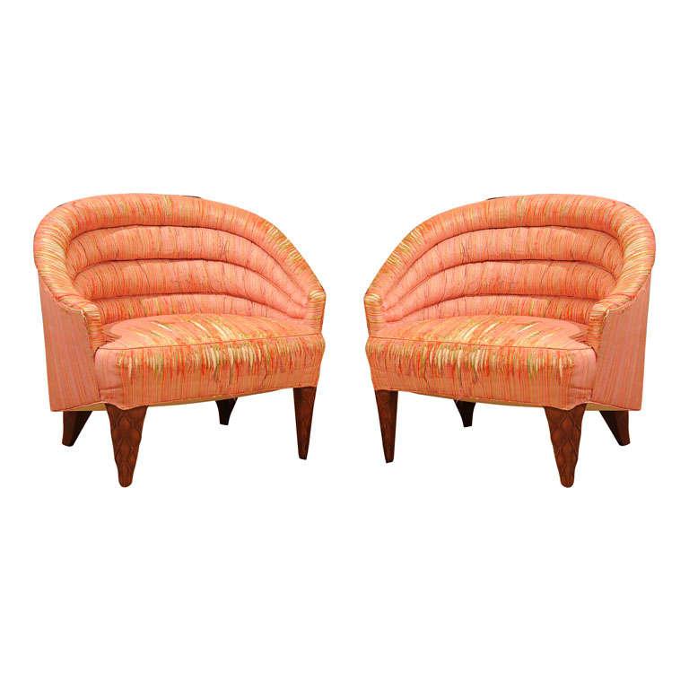 "Dunbar ""Janus"" Line Slipper Chairs 1"