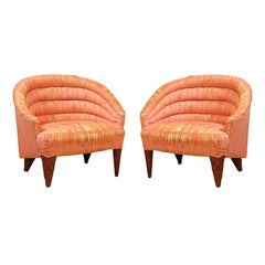 "Dunbar ""Janus"" Line Slipper Chairs"