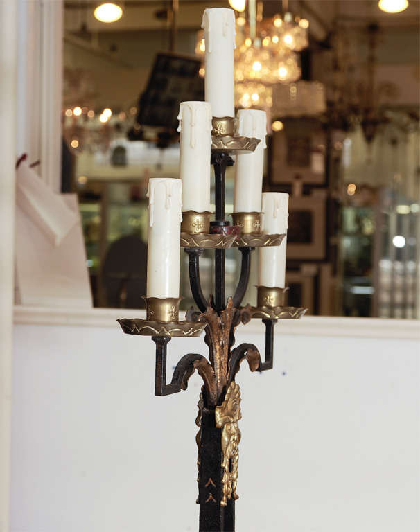 Gothic Revival Candelabra Style Floor Lamp At 1stdibs