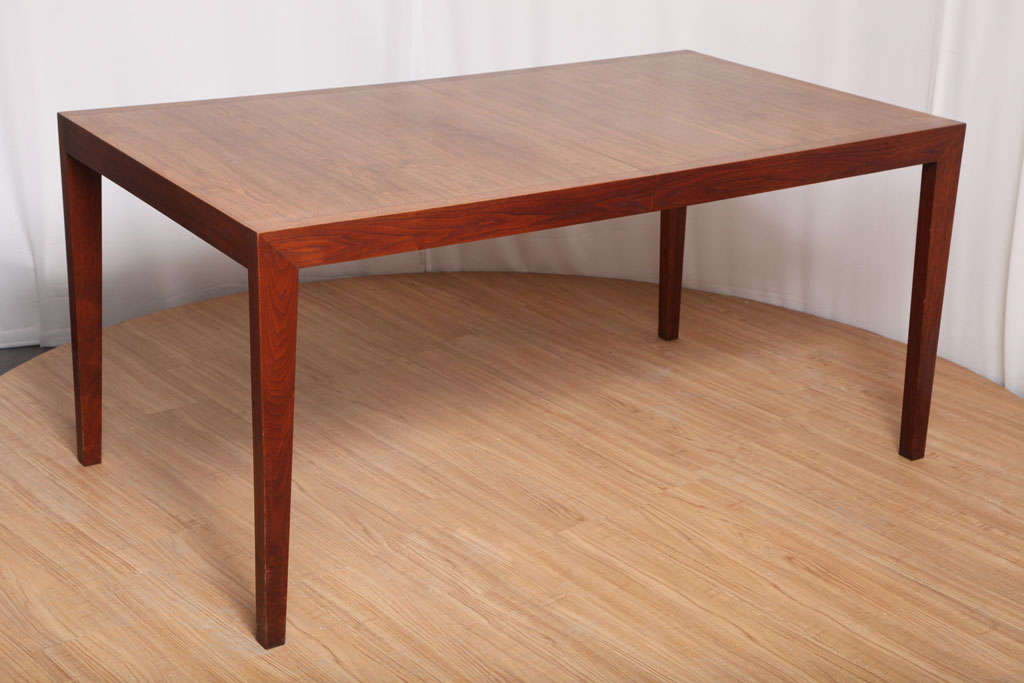 American Walnut Dining Table by Knoll For Sale
