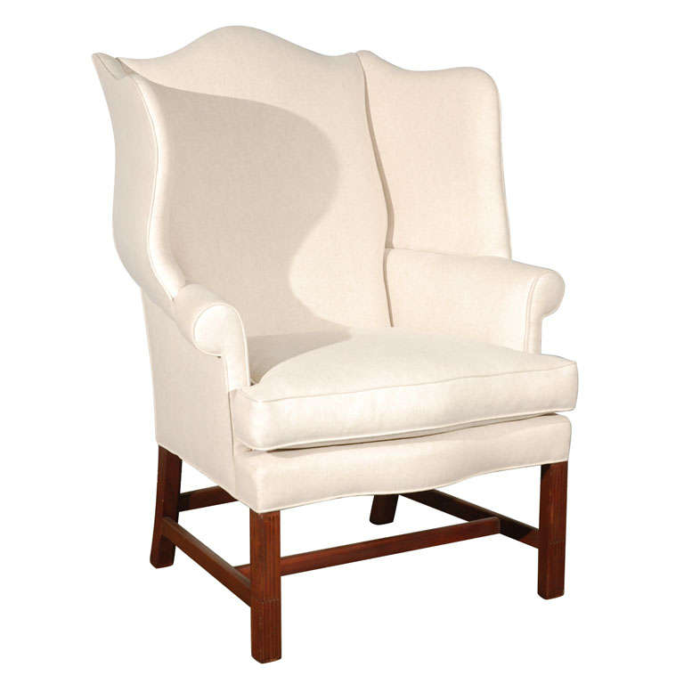 Wing Back Arm Chair At 1stdibs