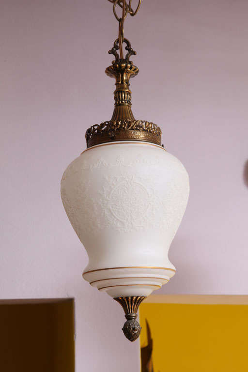 Embossed glass will add class and elegance to all spaces. Gilt edging. please check our restored ceiling lighting collection.