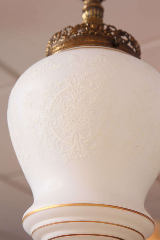 Pr Pendants,White,Gilt, Engraved, White on White Filigree moving sale from$3000 For Sale 1