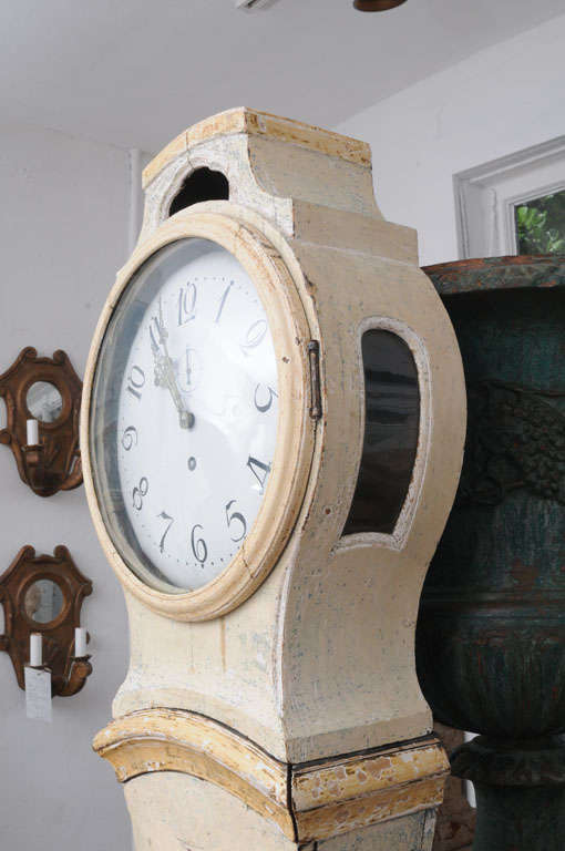 Painted Gustavian Mora Clock 7