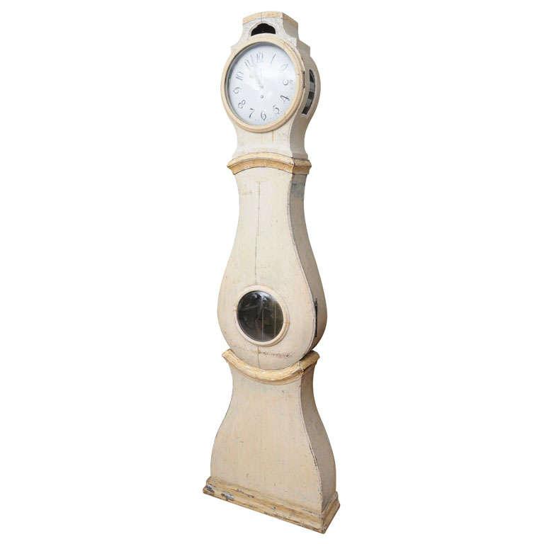 Painted Gustavian Mora Clock 1