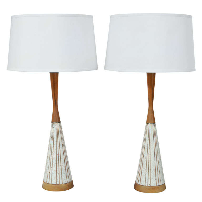 Midcentury swedish  Restored Table Lamps For Sale