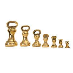 English Brass Weight Set