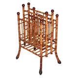 19th Century English Bamboo Magazine Stand