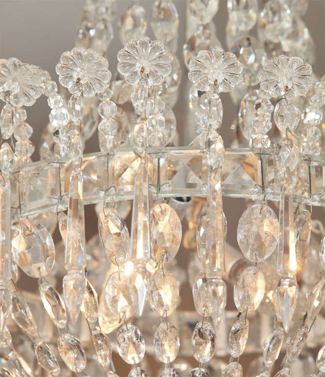 Metal French Empire Crystal Chandelier For Sale