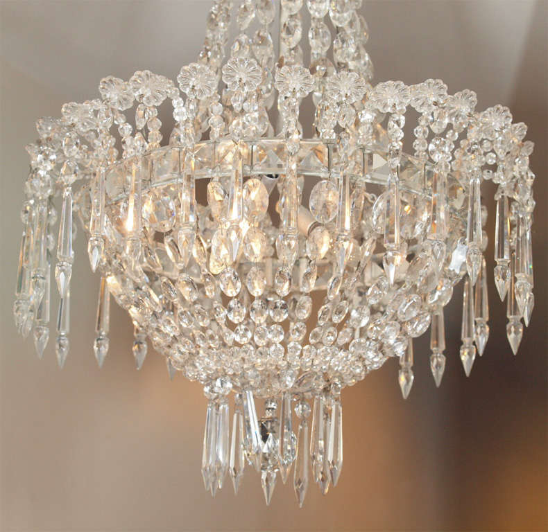 French Empire Crystal Chandelier For Sale 1