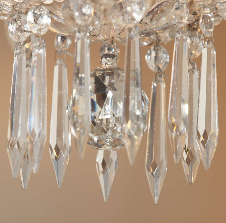 French Empire Crystal Chandelier For Sale 2