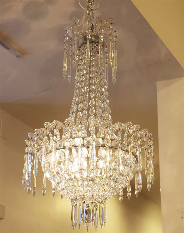 French Empire Crystal Chandelier For Sale 4