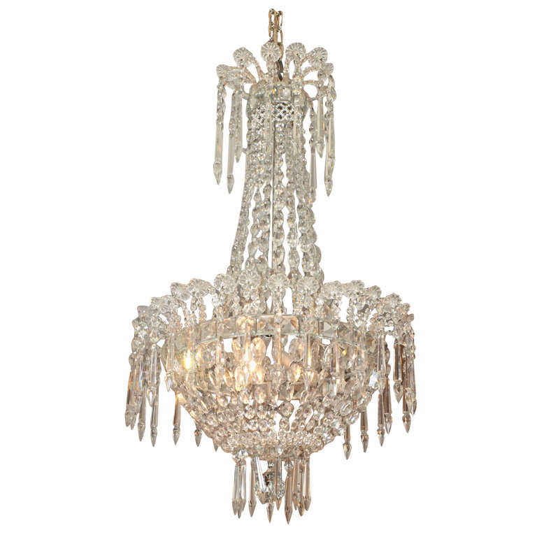 French Empire Crystal Chandelier For Sale