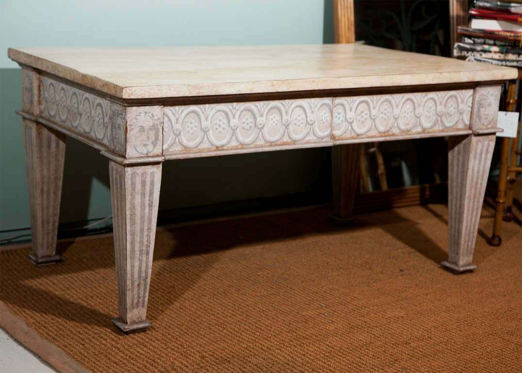 Calssical Painted Coffee Table Custom Made By Niermann Weeks For Sale At 1stdibs
