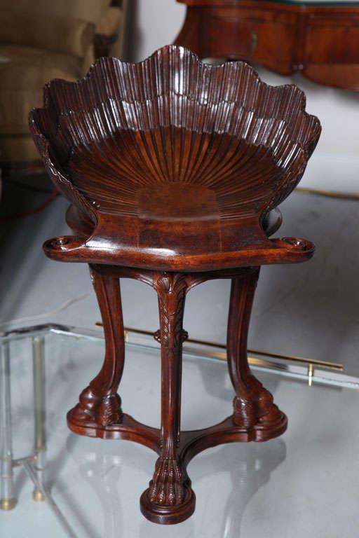 Carved shell shaped piano stool at stdibs