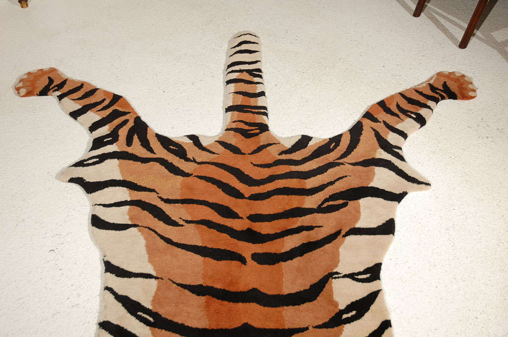 Vintage Quot Tiger Quot Rug At 1stdibs