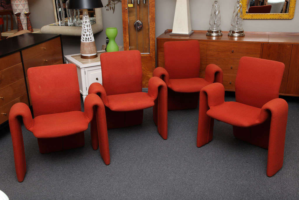 Fun 70 39 s olivier mourgue style ribbon chairs at 1stdibs for Furniture 70s style