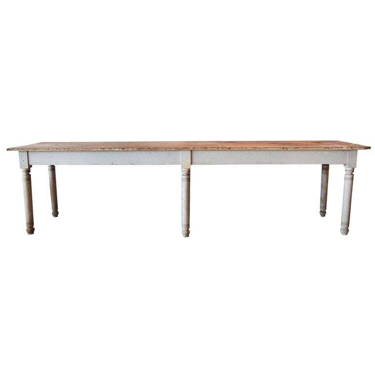Massive Farm Table, New England 1840