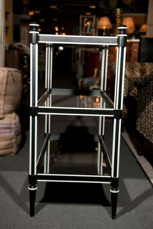 art deco three tier etagere at 1stdibs. Black Bedroom Furniture Sets. Home Design Ideas