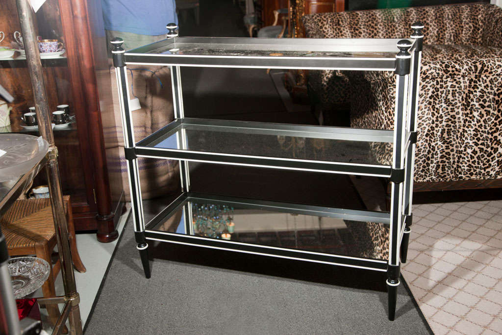 art deco three tier etagere at 1stdibs. Black Bedroom Furniture Sets. Home Design Ideas