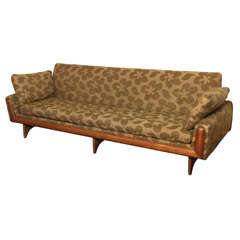 Very Elegant  Danish  Floral  Sofa
