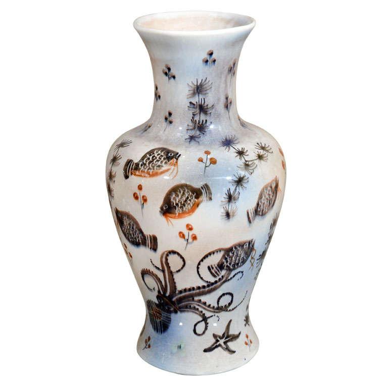 Sea Life Ceramic Vase