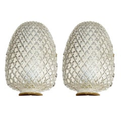 Flush Mounted Glass Pineapple Sconces