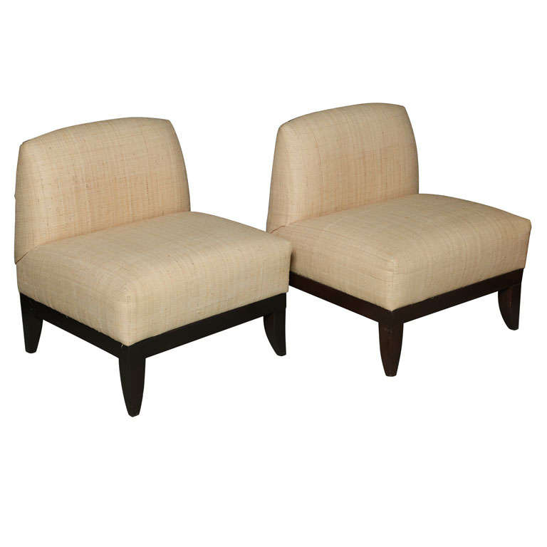 Vintage Custom Armless Lounge Chairs At 1stdibs