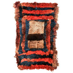 Antique Central Asian Fur Rug