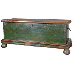Antique South Asian Storage Trunk on Stand