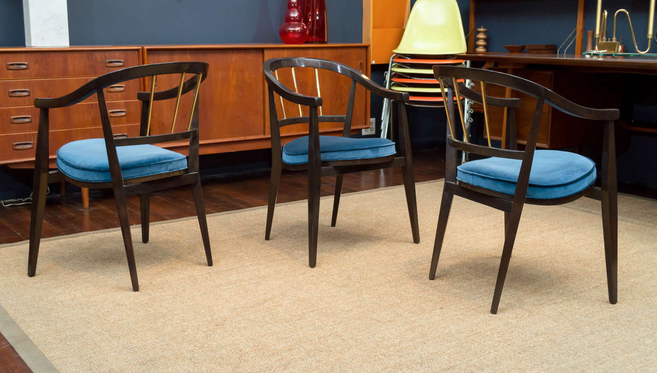 Trio of Dunbar Armchairs In Excellent Condition For Sale In San Francisco, CA