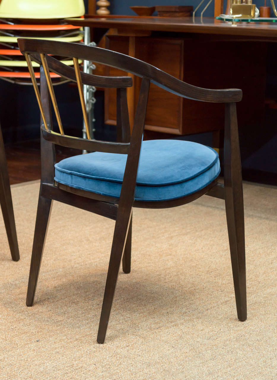 Mid-20th Century Trio of Dunbar Armchairs For Sale