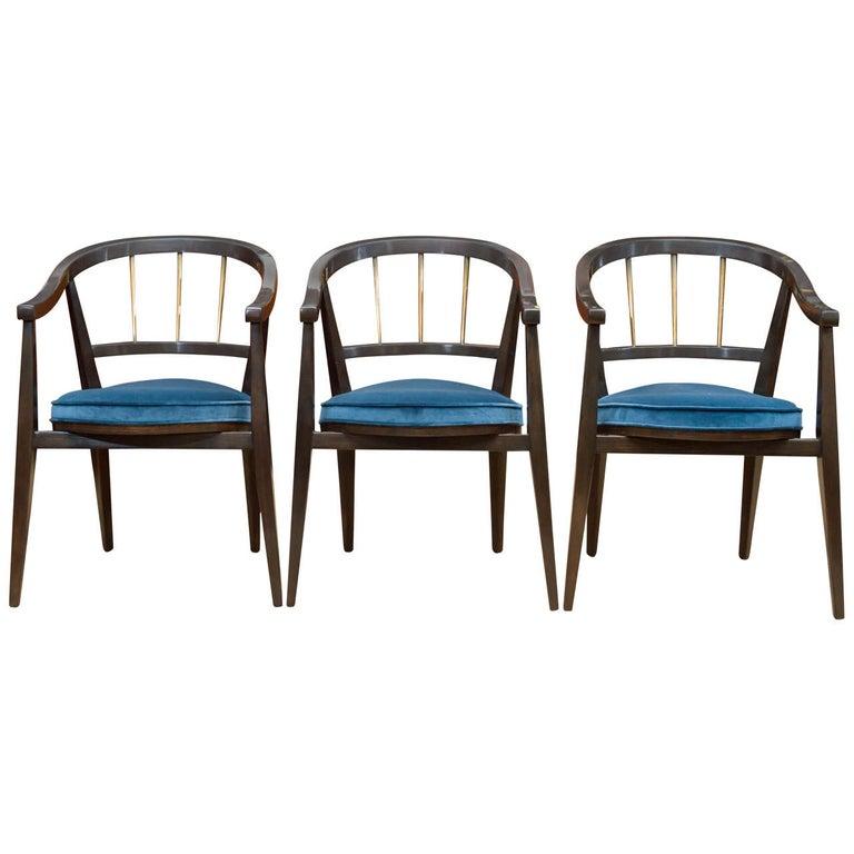 Trio of Dunbar Armchairs For Sale