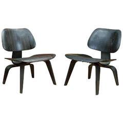 Pair of Original Eames LCW's