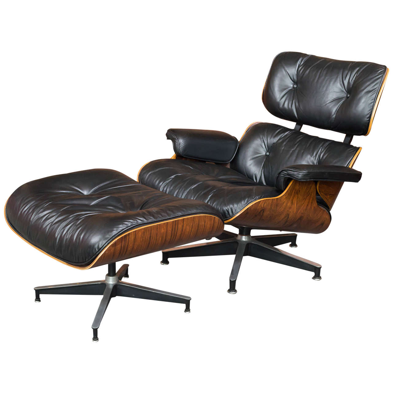 eames rosewood lounge chair 670 and ottoman 671 for herman miller at 1stdibs. Black Bedroom Furniture Sets. Home Design Ideas