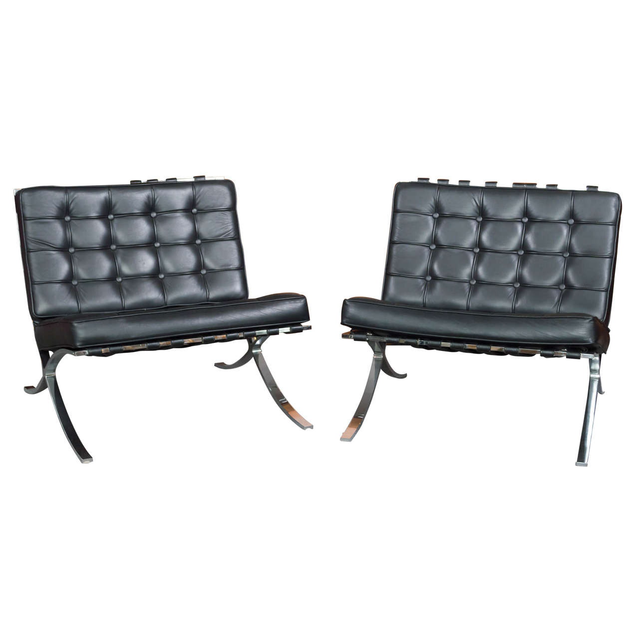 Vintage Pair Of Mies Van Der Rohe Barcelona Style Chairs **Saturday Sale**