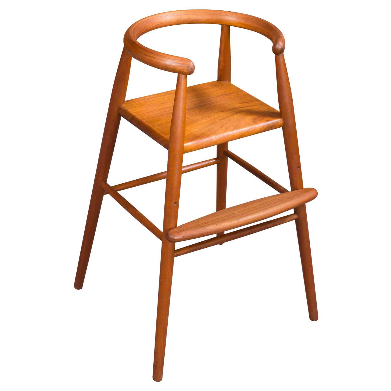 Danish Modern Child's High Chair by Nanna and Jorgen ...