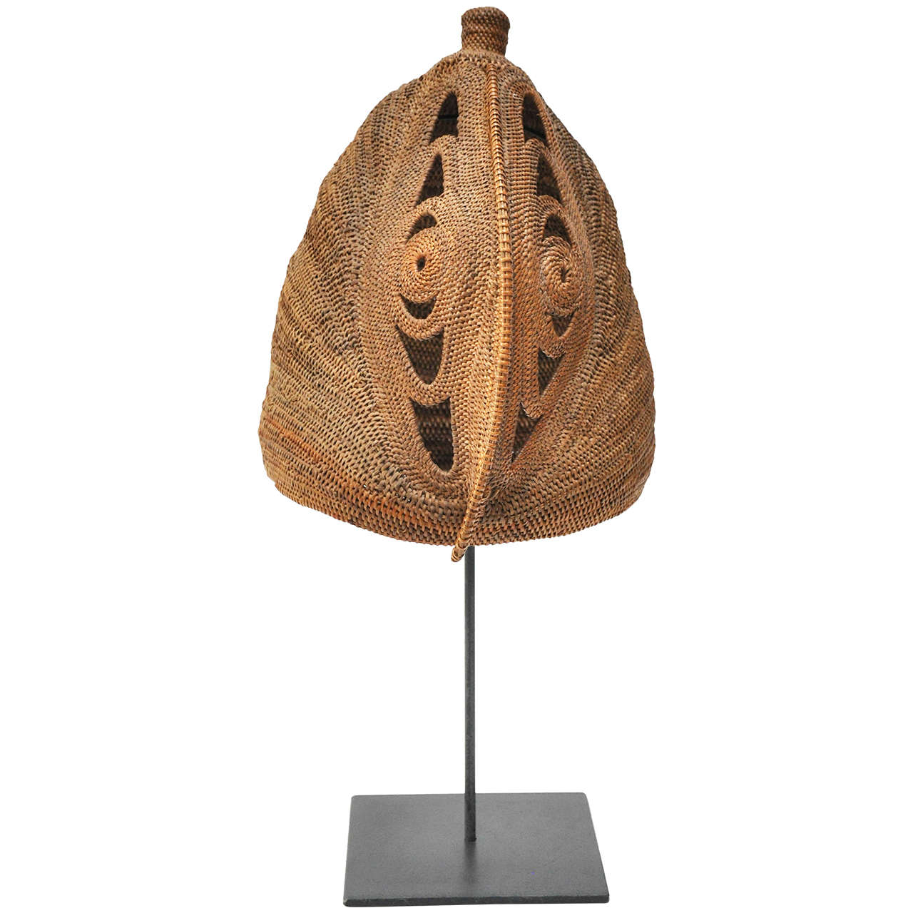 Early 20th Century Extra Large Yam Mask from Paupa New Guinea