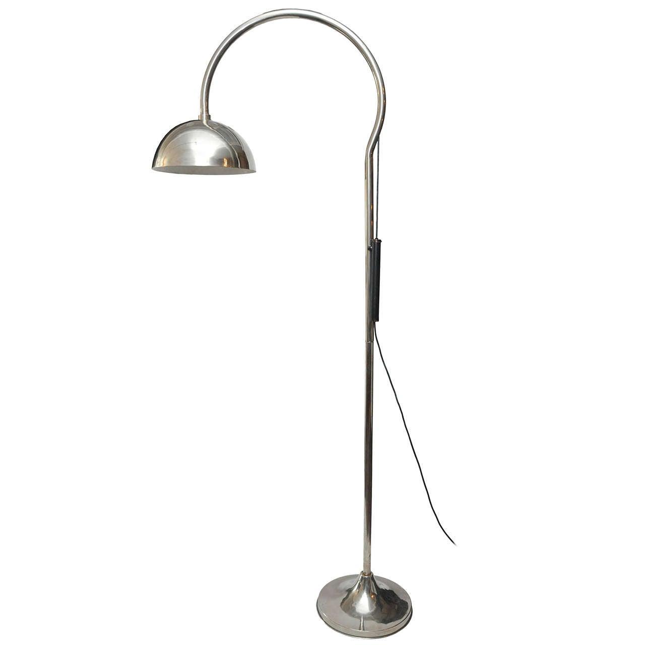 Midcentury Italian Gooseneck Floor Lamp At 1stdibs