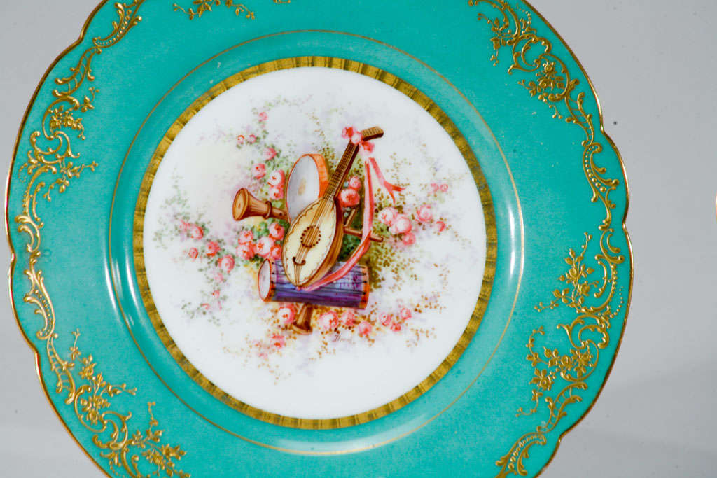 Sevres Hand Painted Cabinet Plates, Artist Signed For Sale 2