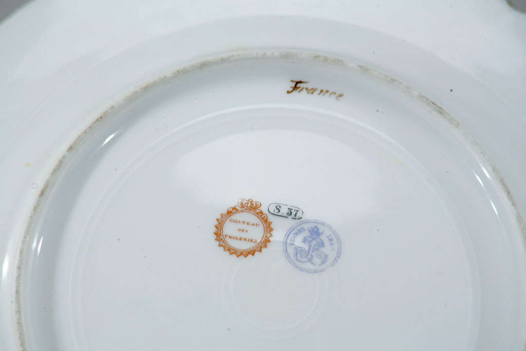 Sevres Hand Painted Cabinet Plates, Artist Signed For Sale 3