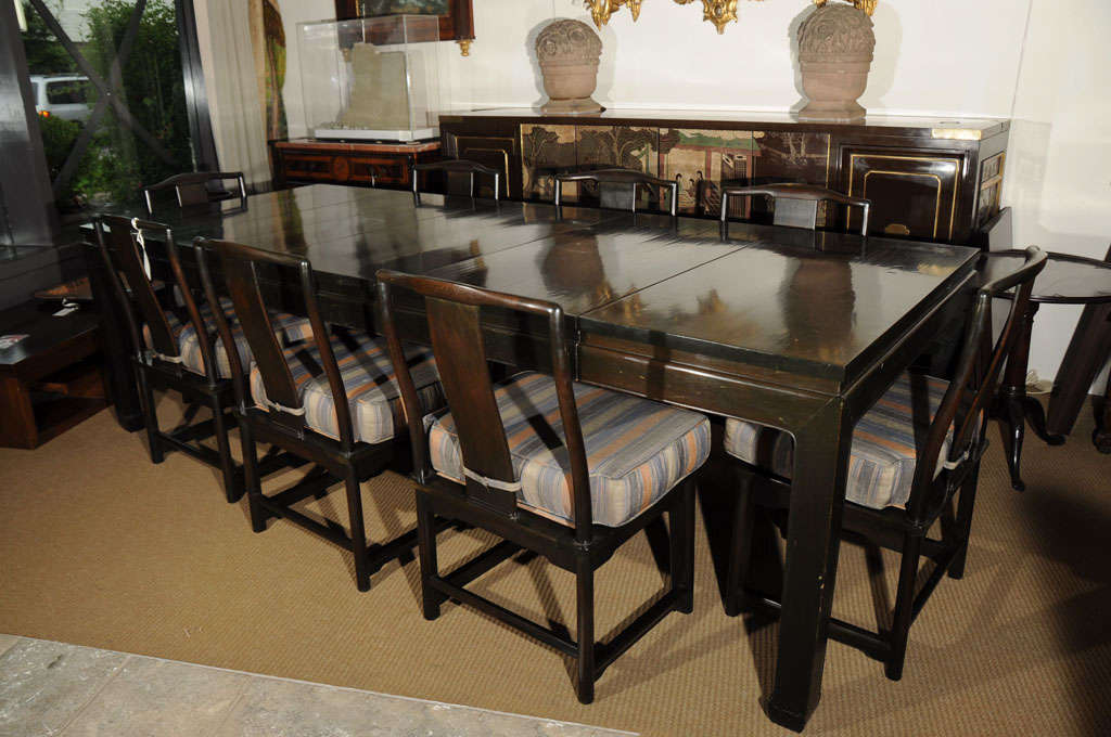 Chinese Style Dining Table And Eight Chairs At 1stdibs