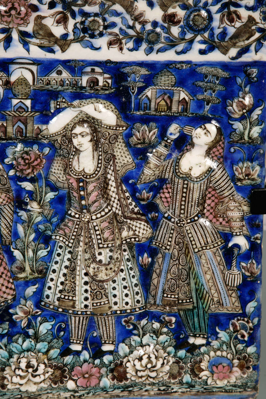 Persian Qajar Tile 19th Century 1