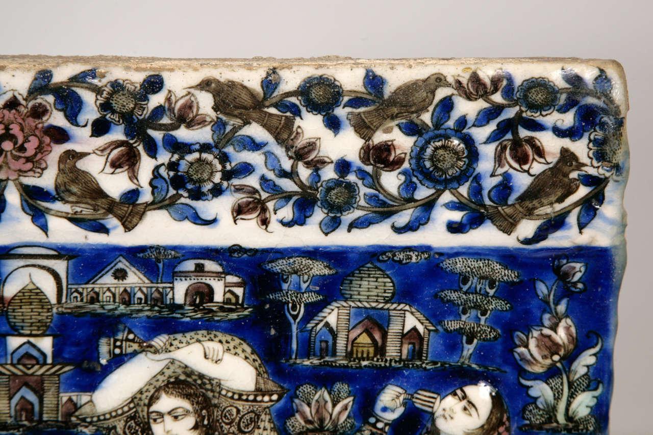 Persian Qajar Tile 19th Century 2