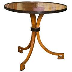 Dessin Fournir Walnut & Ebony Round Side Table