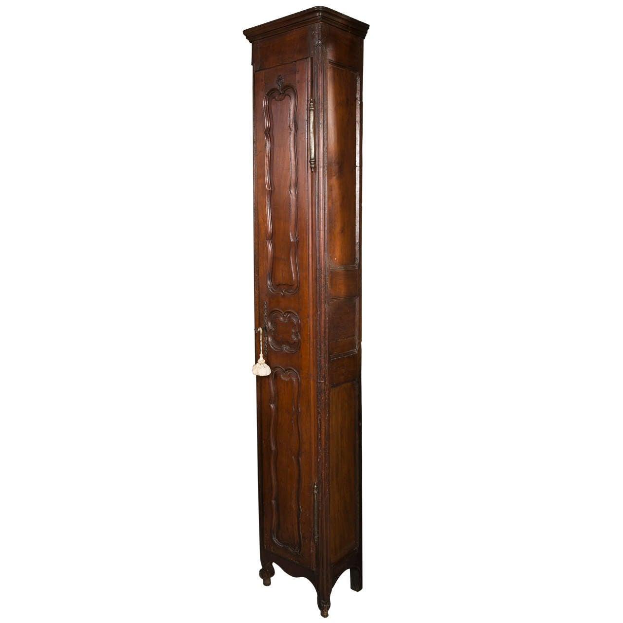 19th C Antique French Walnut Chimney Cupboard At 1stdibs
